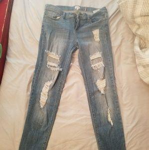 Sexy boyfriend size 9 sneak peek jeans